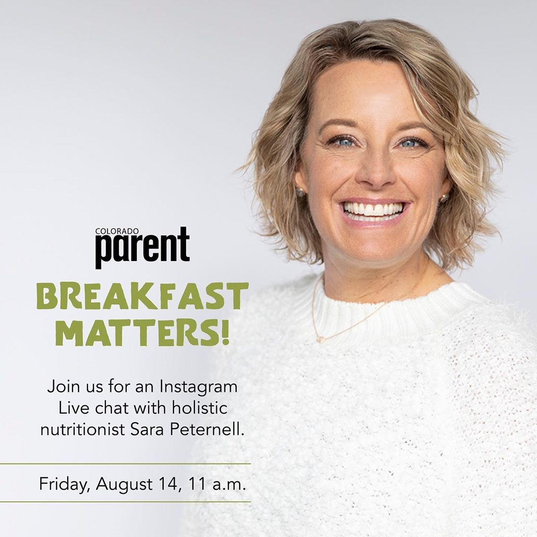 Sara Peternell Instagram Live On Colorado Parent August 2020